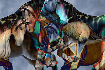Abstract Digital Art - Neutral Tones by Betsy Knapp