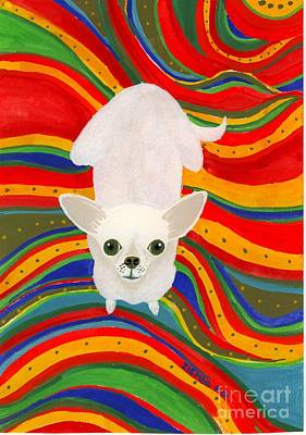 Chihuahua Painting - Neutron On A Serape by Lori Ziemba