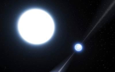 Radiates Photograph - Neutron Star And White Dwarf System by Eso/l. Calcada
