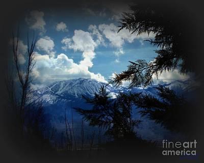 High Sierra Digital Art - Nevada Blues by Bobbee Rickard