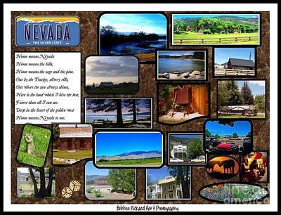 High Sierra Digital Art - Nevada Collage by Bobbee Rickard