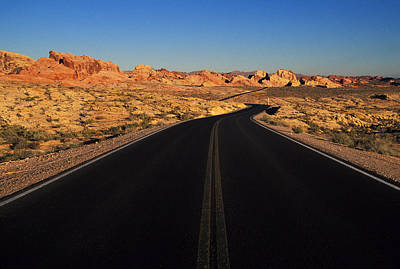 Nevada. Desert Road Print by Anonymous