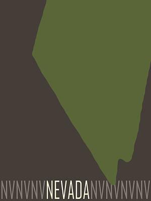 Color Block Digital Art - Nevada State Modern by Flo Karp