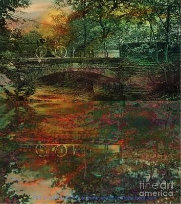 Covered Bridge Painting - Never Came Back by PainterArtist FIN