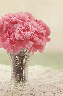 Pink Carnation Photograph - Never Ending Love by Kim Hojnacki