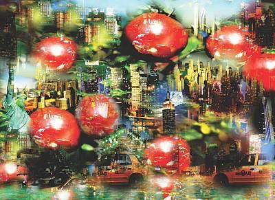 Abstract Painting - New Apple York by Jessie J De La Portillo