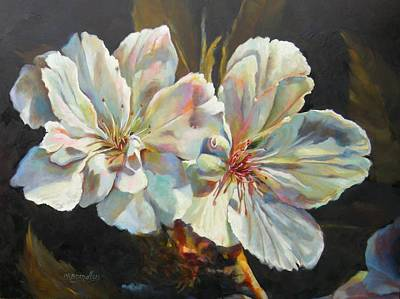 Cherry Blossoms Painting - New Beginnings by Chris Brandley