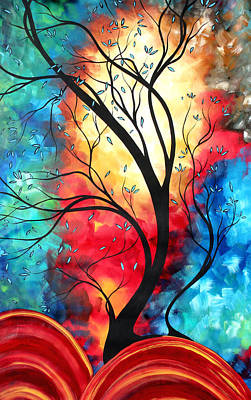 Sophisticated Painting - New Beginnings Original Art By Madart by Megan Duncanson