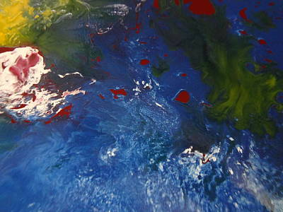 Space  Image Of Blue  Planet By Suys Original by Jean-francois Suys