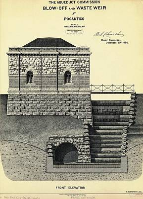 New Croton Aqueduct Print by Mid-manhattan Picture Collection/new York Public Library