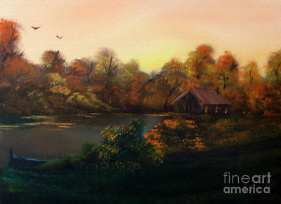 Autumn Landscape Mixed Media - New Day In Autumn Sold by Cynthia Adams