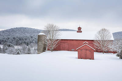 New England Barns Print by Bill Wakeley