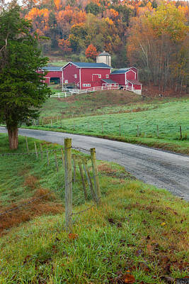 Scenic Photograph - New England Farm by Bill Wakeley