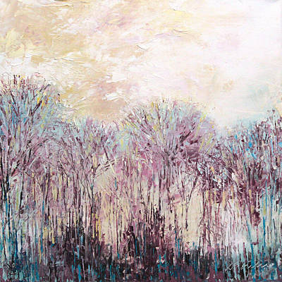 New England Winter Scene Painting - New England Landscape No.100 by Sumiyo Toribe