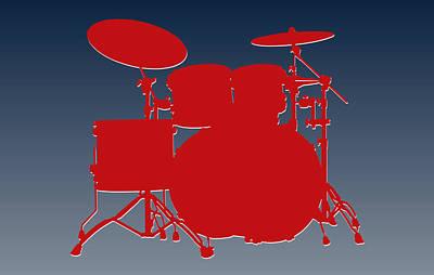 Drum Photograph - New England Patriots Drum Set by Joe Hamilton
