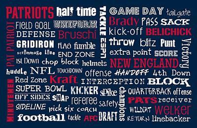 New England Patriots Print by Jaime Friedman