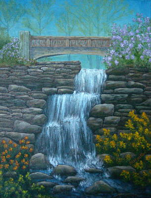 New England Waterfall Print by Pamela Allegretto