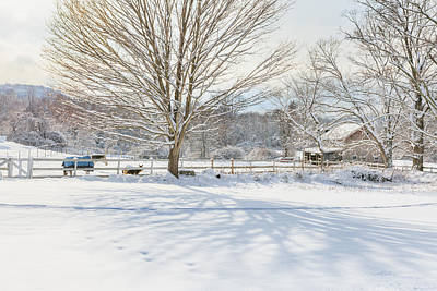 Barns Photograph - New England Winter by Bill Wakeley