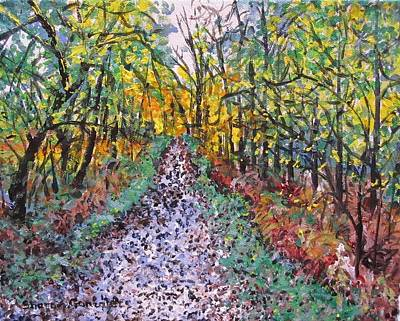 Barton Painting - New Forest by Sharon  De Vore