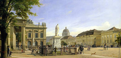 Berlin Germany Painting - New Guardshouse In Berlin by Johann Philipp Eduard Gartner