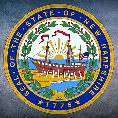 New Hampshire State Seal Print by Movie Poster Prints