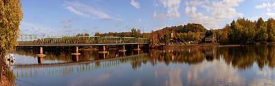 New Hope-lambertville Bridge, Delaware Print by Panoramic Images