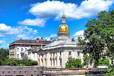 New Jersey Capitol Print by Olivier Le Queinec