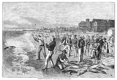 Asbury Park Painting - New Jersey Fishing, 1880 by Granger