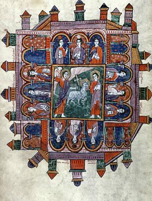 New Jerusalem Painting - New Jerusalem, C1220 by Granger