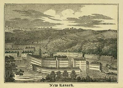 New Lanark Print by British Library