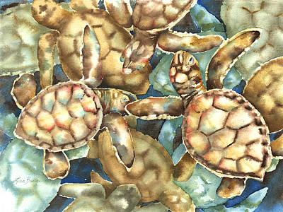 Hawaii Sea Turtle Painting - New Life by Lisa Bunge