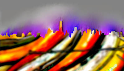 Buy Digital Art - New Manhattan 2 - Marcello Cicchini by Marcello Cicchini