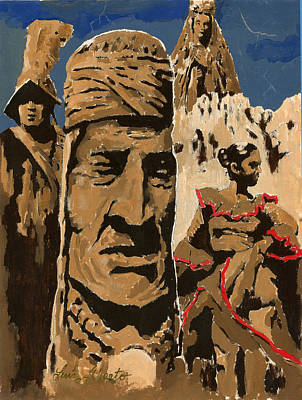 Las Cruces Painting - New Mexico by Luis  Navarro