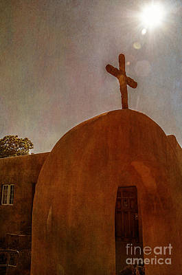 Adobe Church Photograph - New Mexico Meditation by Terry Rowe