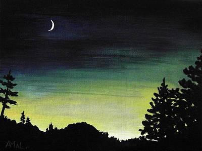 New Moon Print by Anastasiya Malakhova