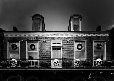 Haunting Photograph - New Orleans- A Skull Paradise by Christine Till
