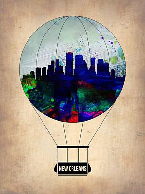 Mississippi Digital Art - New Orleans Air Balloon by Naxart Studio