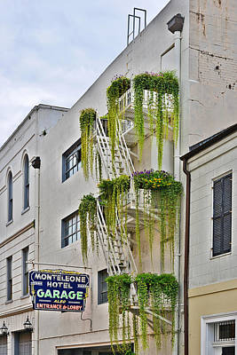 Street Photograph - New Orleans Balcony Gardens by Christine Till