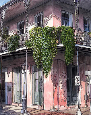 New Orleans Balcony Print by John Boles