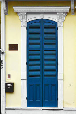 New Orleans Blue Door Print by Christine Till