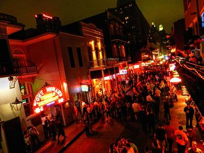 New Orleans - Bourbon St. 003 Print by Lance Vaughn