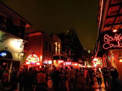 Jazz Photograph - New Orleans - Bourbon Street 001 by Lance Vaughn