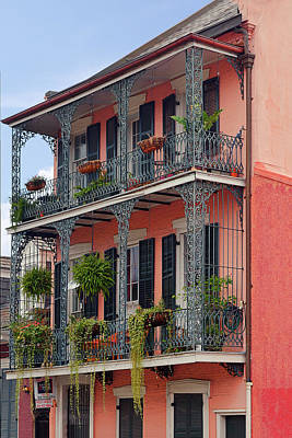 Balcony Photograph - New Orleans Colorful Homes by Christine Till