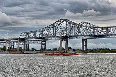 New Orleans Crescent City Connection Bridge Print by Christine Till