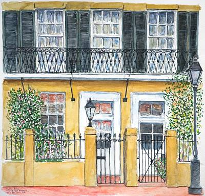 On Paper Painting - New Orleans Dauphine Street by Anthony Butera