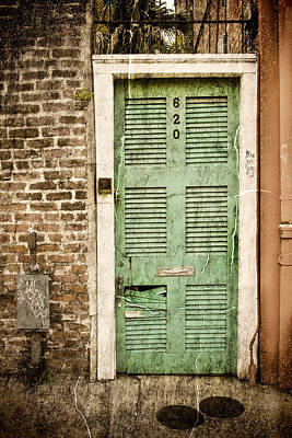 Pyrography Photograph - New Orleans Doorway by Ray Devlin