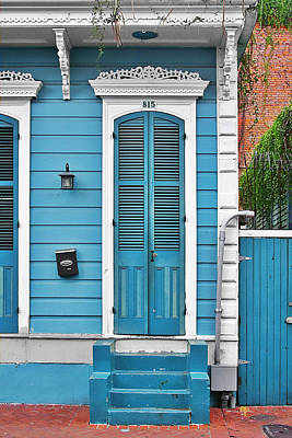 New Orleans Front Door Print by Christine Till