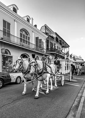 Carriage Photograph - New Orleans Funeral Monochrome by Steve Harrington