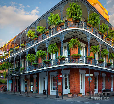 Balcony Photograph - New Orleans House by Inge Johnsson