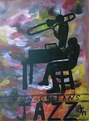 New Orleans Jazz Musicians Original by Marian Hebert